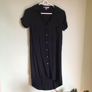 Forever 21 black collared summer dress